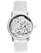 biały zegarek silikonowy