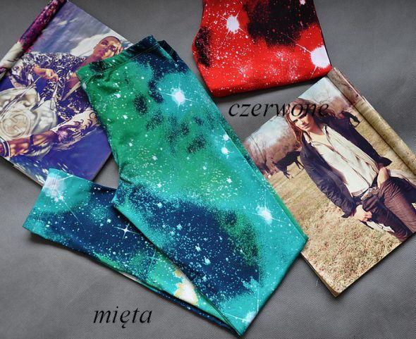 4 KOLORY legginsy galaxy kosmos