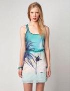 Sukienka Bershka palmy