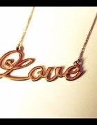 łańcuszek LOVE złoty łańcuszek