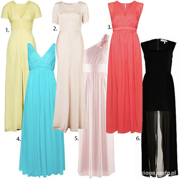 Ubrania dluga jasna sukienka 38