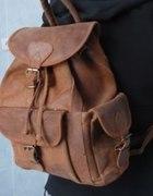 Vintage plecak skóra