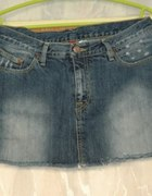 jeansowa spódniczka H&M L