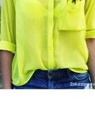 Limonkowa koszula mgiełka s m pilnie