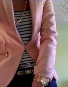 stripes&powder pink...