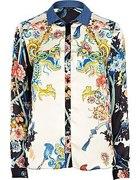 RIVER ISLAND koszula oriental print wzór nowa kol
