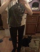 Tshirt czarna pantera wild oversize...
