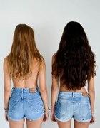 szorty vintage jeansowe