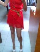czerwona sukienka S M