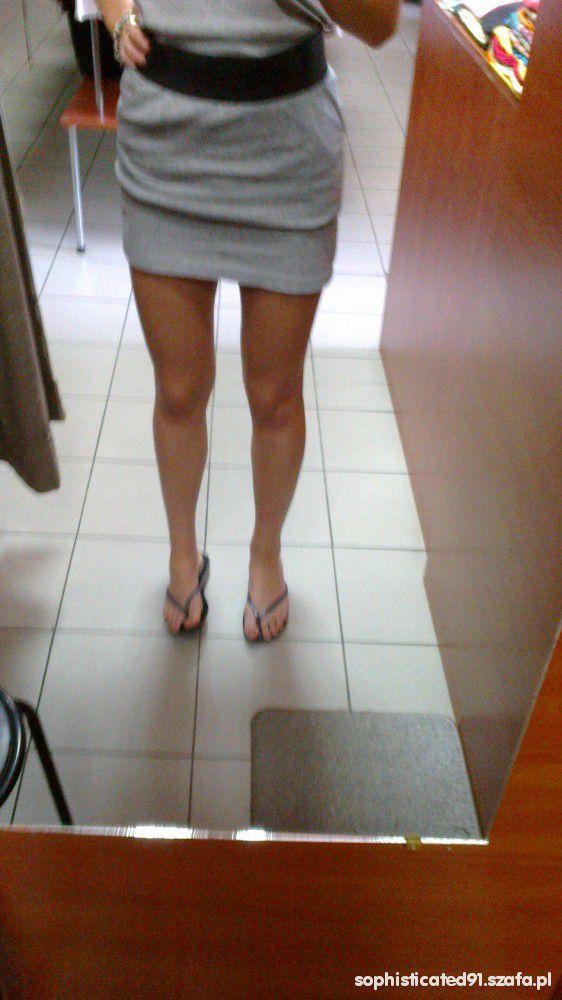 Ubrania szara mini spódnica house S M