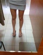szara mini spódnica house S M