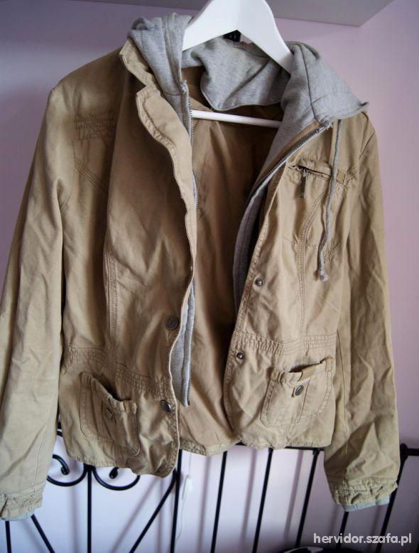 Płaszcz militarny ZARA parka kurtka 2013 w Odzież wierzchnia