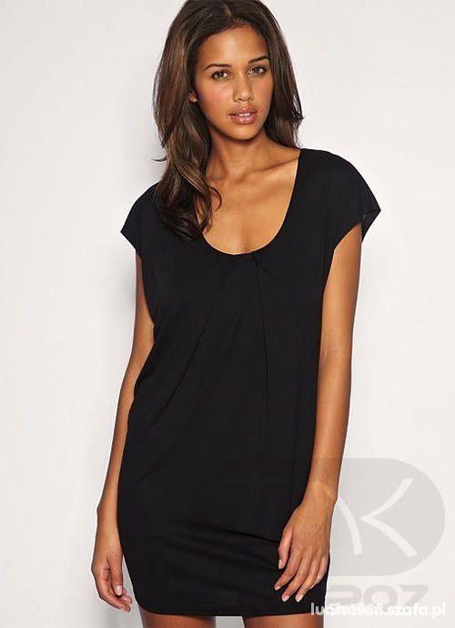 Suknie i sukienki czarna sukienka z zamkiem