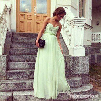 Eleganckie Miętowa sukienka