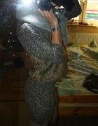 sukienka zeberka plus futro...