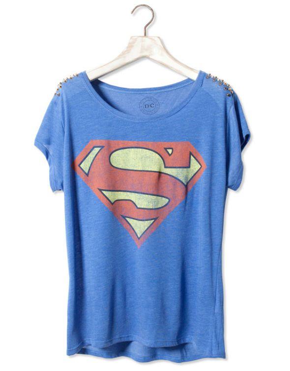 bluzka superman pull&bear M z dżetami