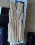 beżowa sukienka tyl dluzszy