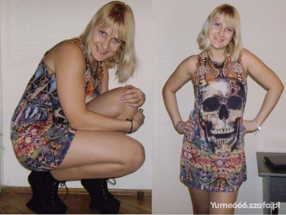 Imprezowe skull dress & nite walk