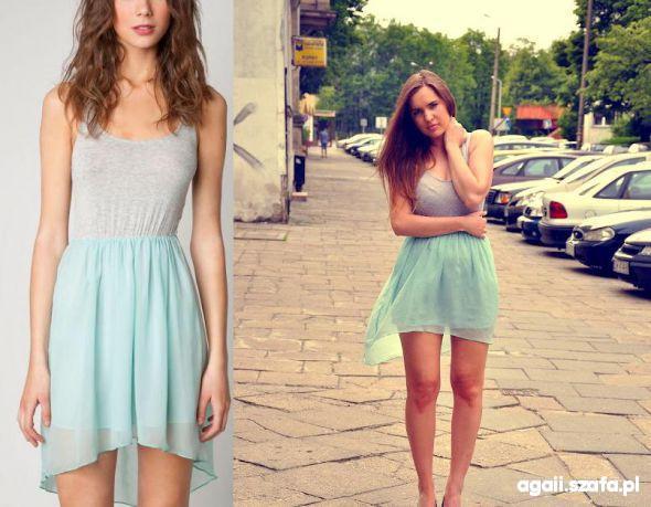 Bershka asymetryczna sukienka