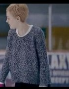 Szary sweter melanż grzybek...