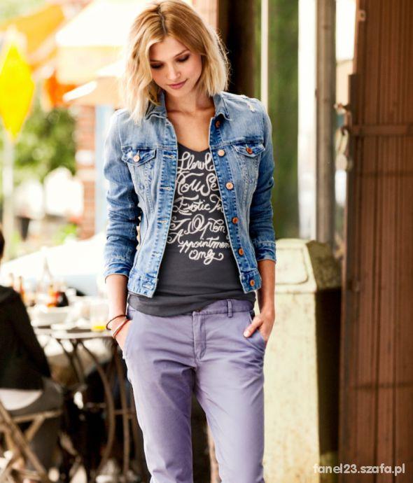 Kurtka katana dżinsowa jeansowa 34 XS HM NOWO w Odzież