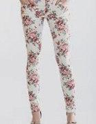 spodnie floral w kwiatki S M