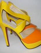 neonowe sandały 40