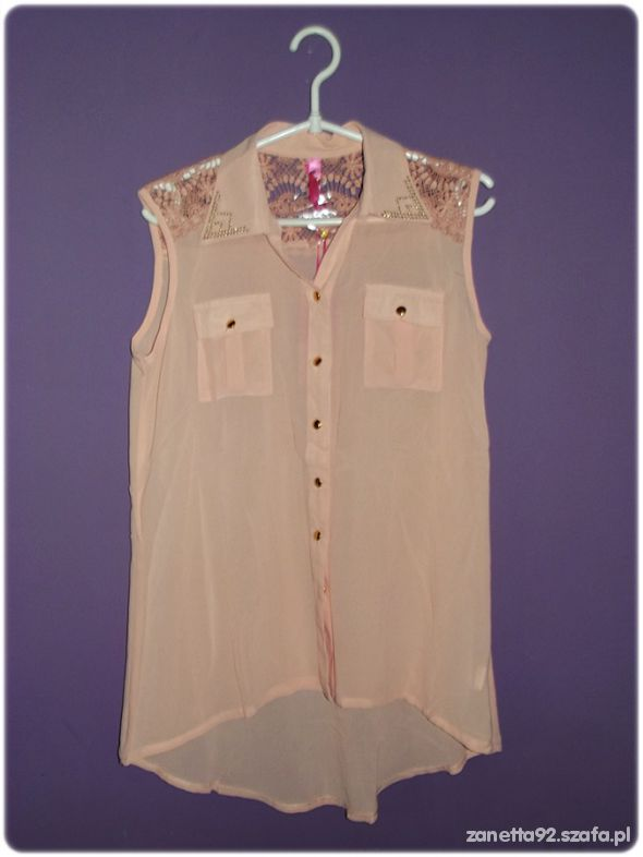 Koszule Koszula asymetryczna mgiełka