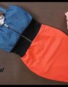 Sukienka jeans Zip kolory
