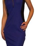 Chabrowa sukienka z suwakiem