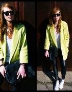 Limonkowy płaszcz