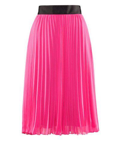 HM Spódnica różowa plisowana elegancka L w Spódnice Szafa.pl