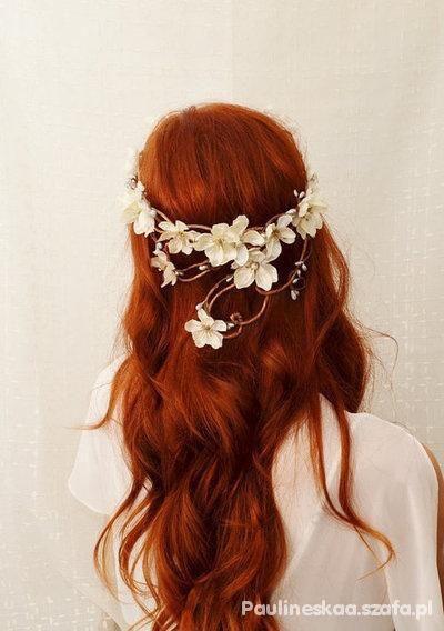 rude włosy romantycznie