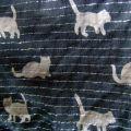 chusta czarna srebrne koty