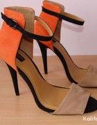 szpilki sandały zara 2012 pomarańczowe