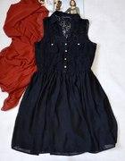 ATMOSPHERE Sukieneczka czarna tiul koronka