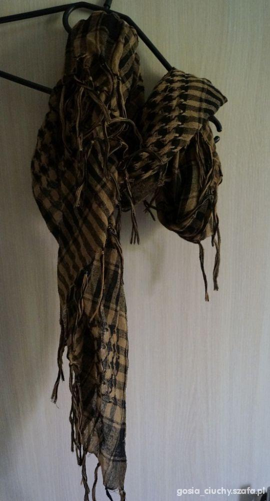 Chusty i apaszki Arafatka czarnobrązowa