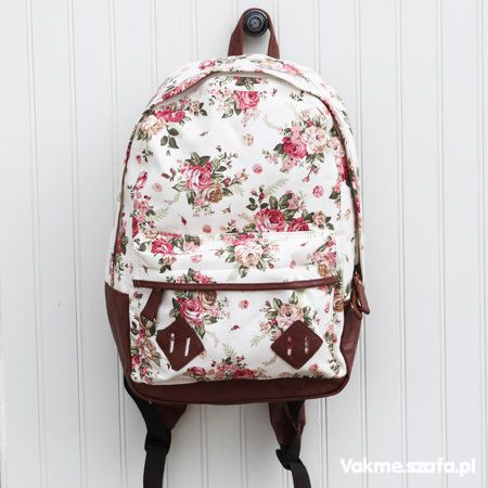 Plecak retro vintage floral