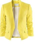 Żółta Marynarka H&M