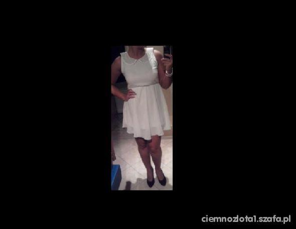Mój styl Biała szyfon