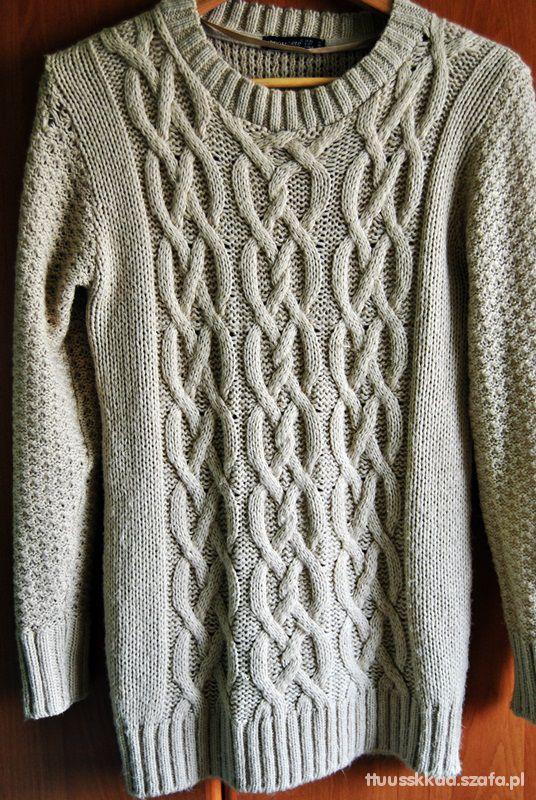 beżowy sweter ATMOSPHERE...