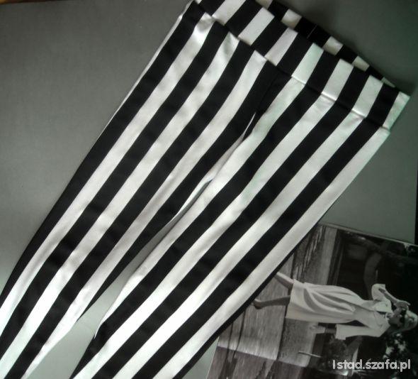 NOWE legginsy w czarno białe pasy 22 zł