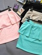 mini spódniczki z baskinką super modne