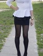 Biała bluzka z baskinką i baskinka