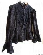czarna wiktoriańska koszula