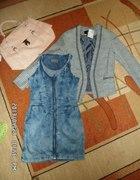 Dzisiejsze zakupy pudrowy jeans & boucle...