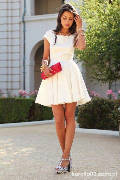 be7691606f biała sukienka lub mała czarna jakakolwiek w Ubrania - Szafa.pl