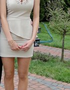 Śliczna beżowa sukienka