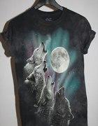 Koszulka wilki księżyc zorza the mountain