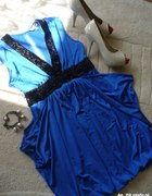 Chabrowa sukienka na rodzinne spotkanie